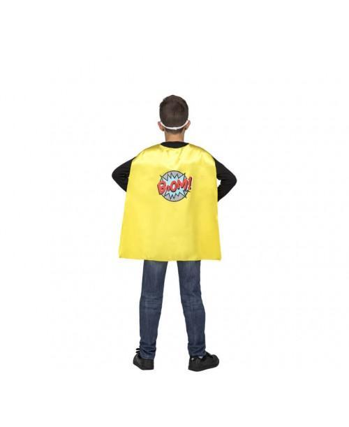 Capa Super Héroe Amarilla Infantil.