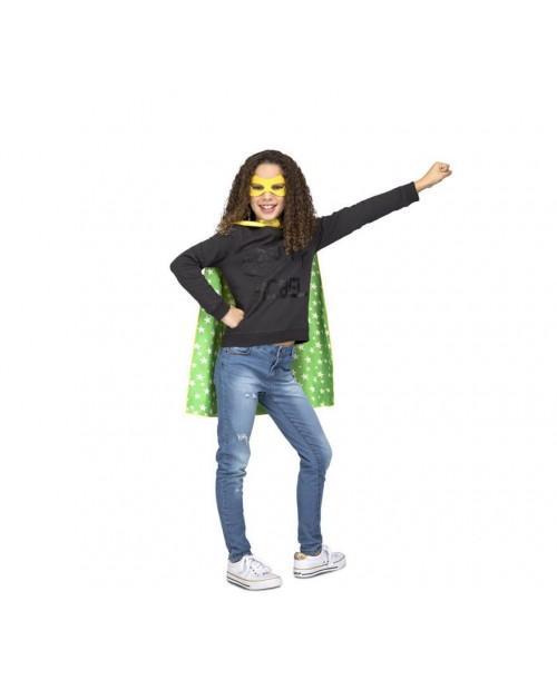 Capa Super Héroe Amarilla Stars Infantil.