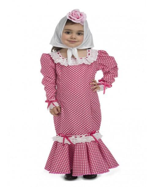 Disfraz de Chulapa Rosa para Bebé.