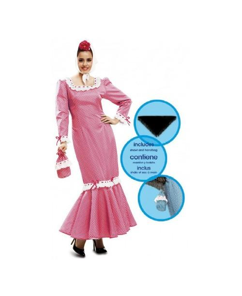 Disfraz de Chulapa Rosa para Adultos.