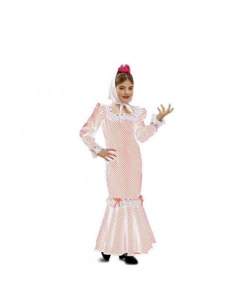 Disfraz de Chulapa Blanco Infantil.