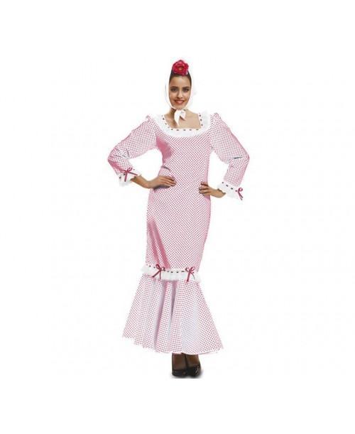 Disfraz de Chulapa Blanco Adulto.
