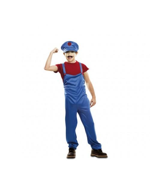 Disfraz de Super Fontanero Rojo Infantil.
