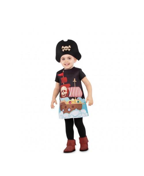 Disfraz de Gran Piratita Infantil.