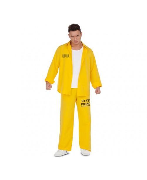 Disfraz de Presidiario Amarillo Adulto.