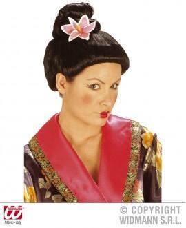 Peluca Fujiko con flor