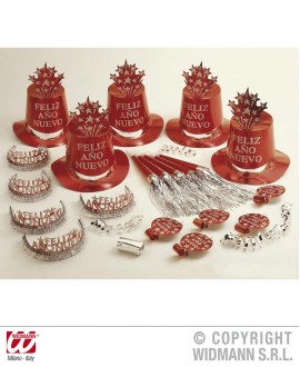 Kit Fiesta Feliz Año Nuevo rojo