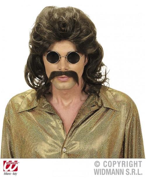 Peluca y bigote hombre años 70