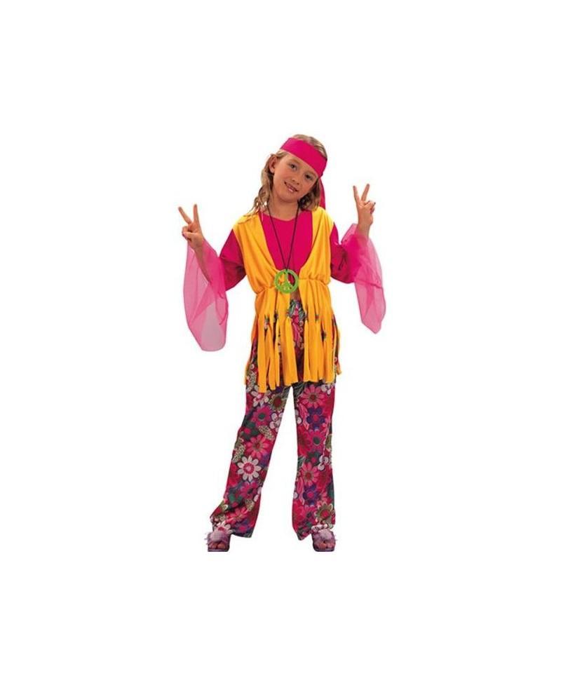 Disfraz de hippie para ni as disfraces de carnaval - Disfraces de angel para nina ...