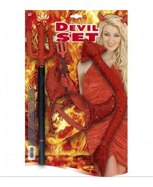 Set Diablo / Diablesa con lentejuelas