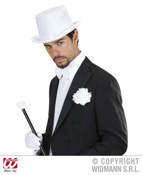 Sombrero Blanco Terciopelo
