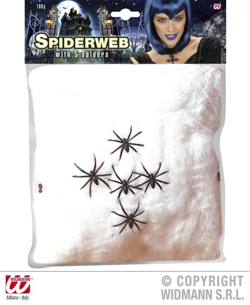 Telaraña Blanca con 5 arañas