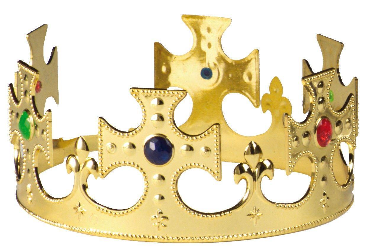 Corona De Rey Cruzada Oro Para Adulto Comprar Corona Rey Cruzada Oro