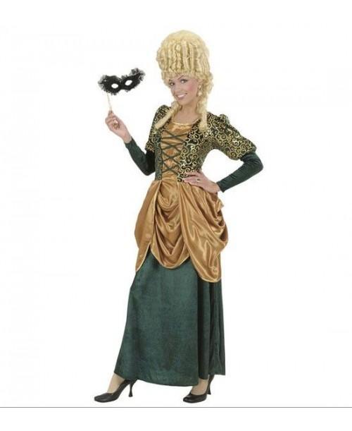 Disfraz de Marquesa Verde y Dorado