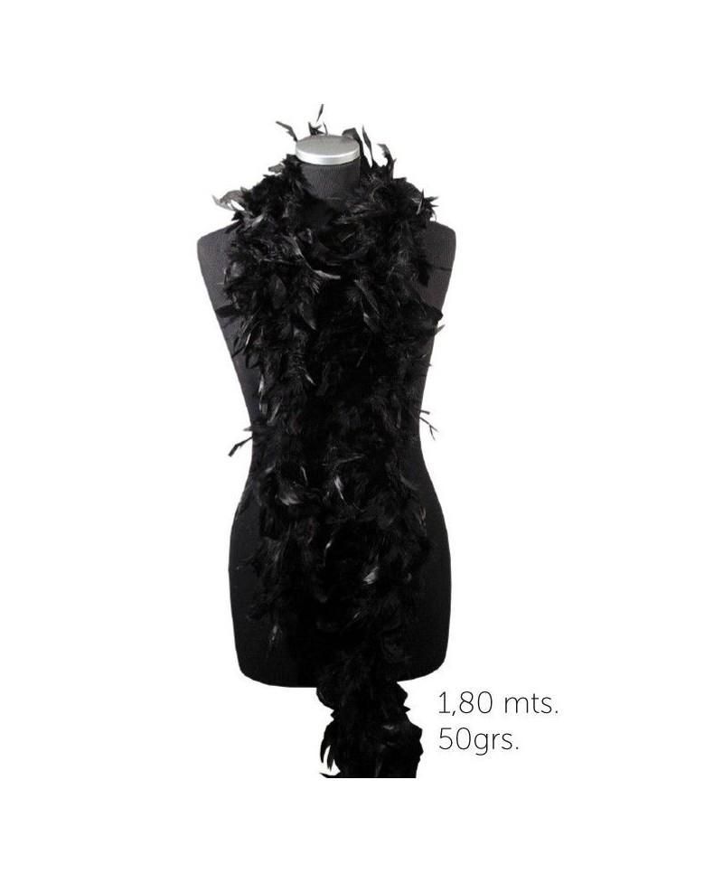 Boa Negra para Disfraces