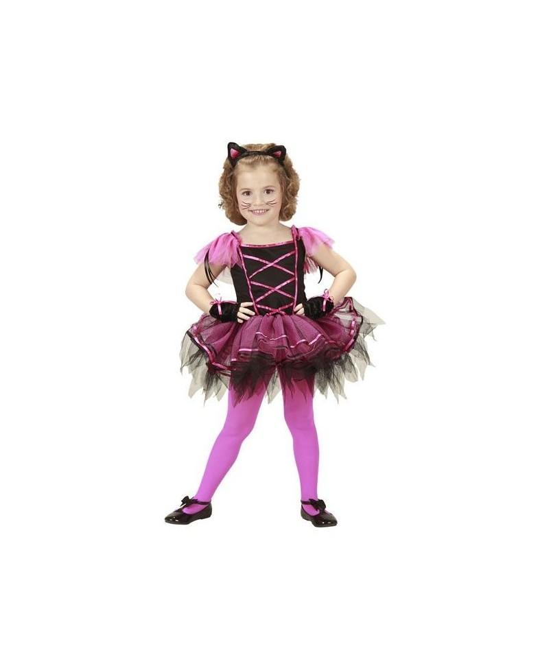 a0ad340addd Disfraz de Gatita Bailarina para Niñas de 3 a 5 Años