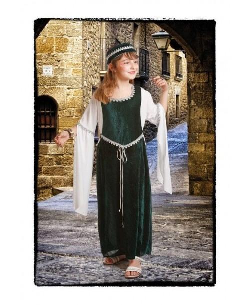 Disfraz Medieval Verde para niña