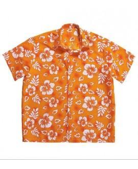 Camisa Hawaiana Naranja