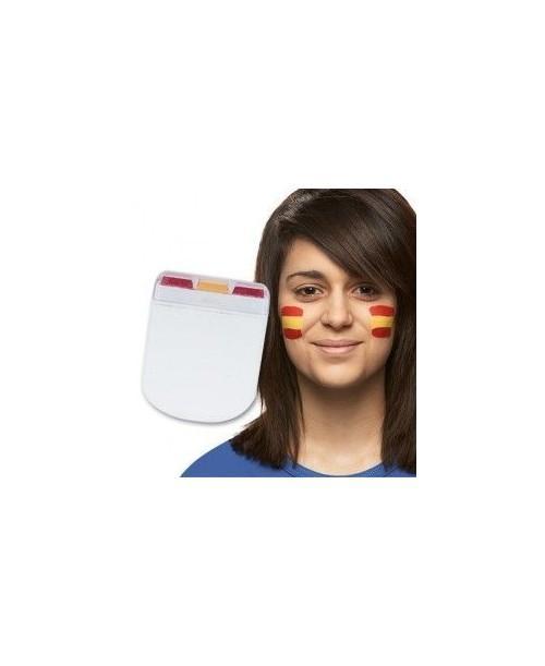 Pintura de cara bandera de España