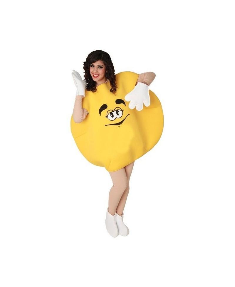 Disfraz de Caramelo Amarillo Adulto