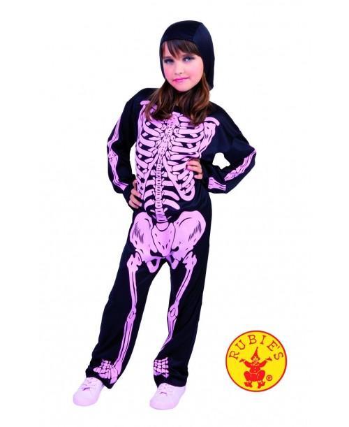 Disfraz Esqueleto Niños con Huesos Rosas