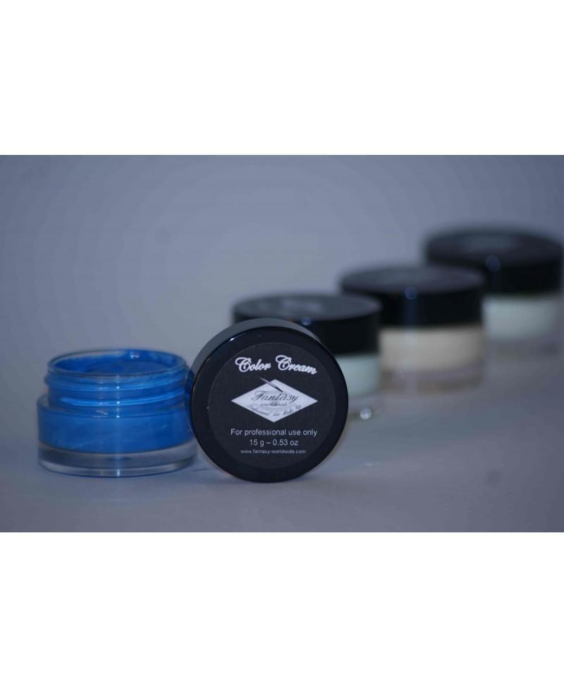 Maquillaje en crema color Azul