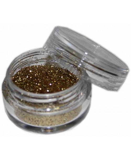 Maquillaje purpurina Oro