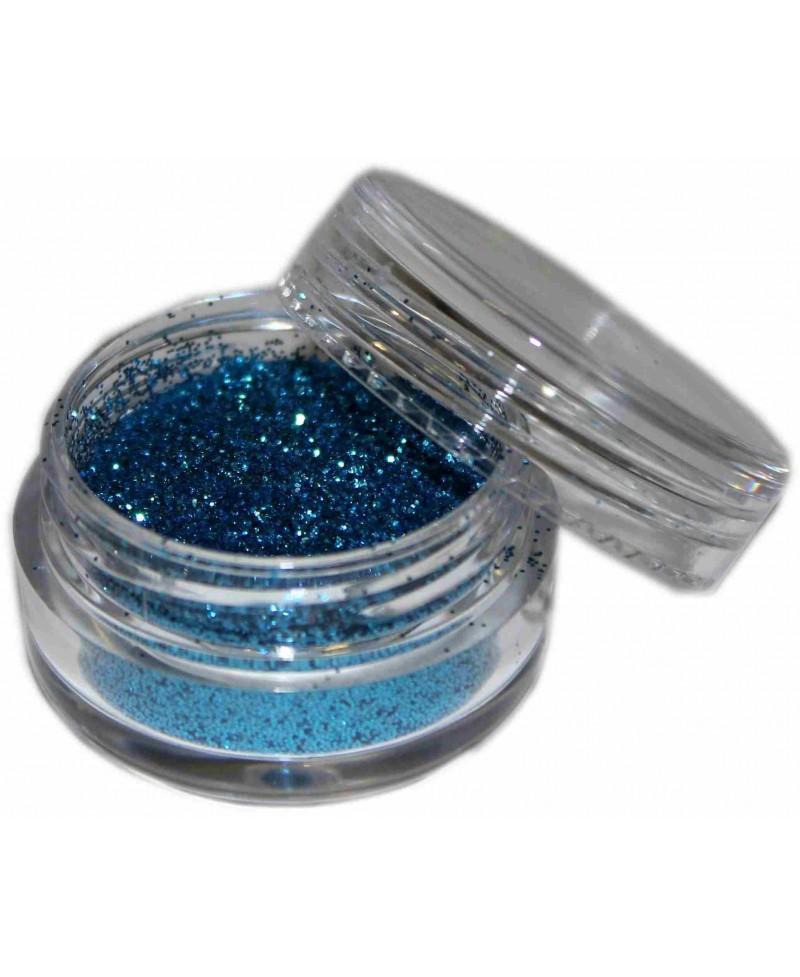 Maquillaje purpurina Azul Mar