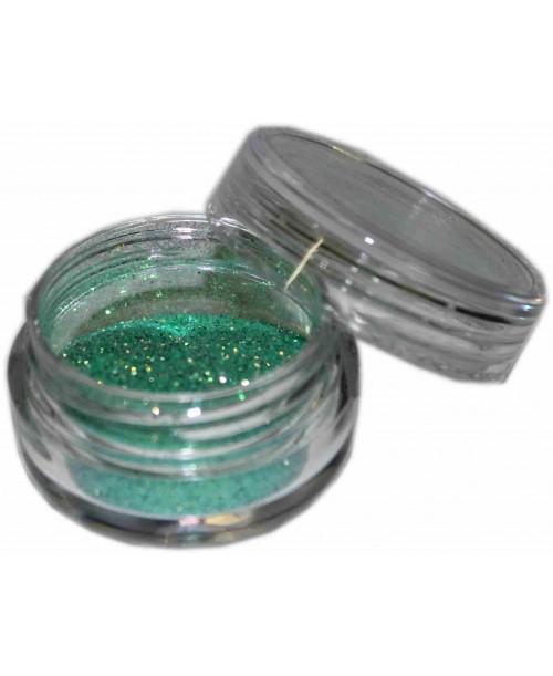 Maquillaje purpurina Verde Pálido