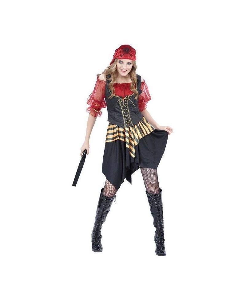 Disfraz de Pirata Chica Roja