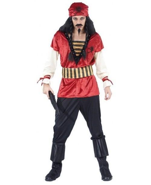 Disfraz de Pirata Chico Rojo