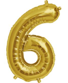 """Globo Foil 34"""" Nº 6"""