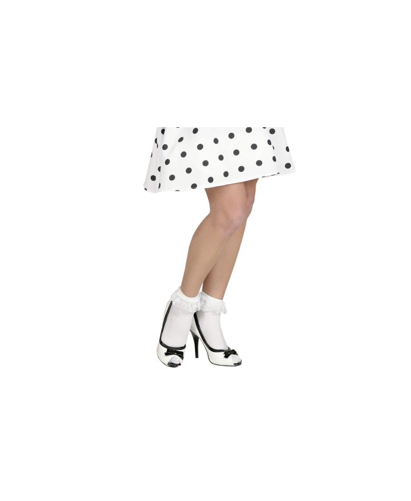 Calcetines Blancos con Volante de Encaje