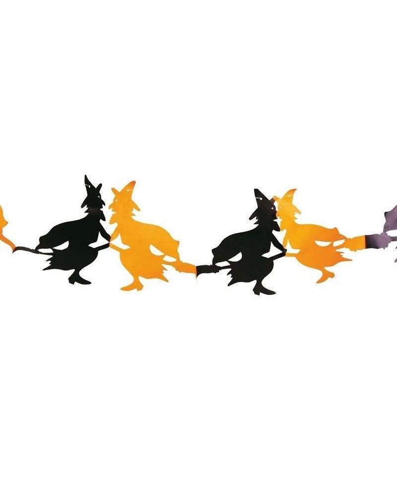 Guirnalda Brujas Naranja / Negro