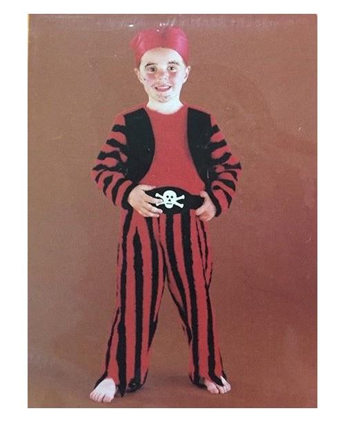 Disfraz de Pirata Rayas Niños