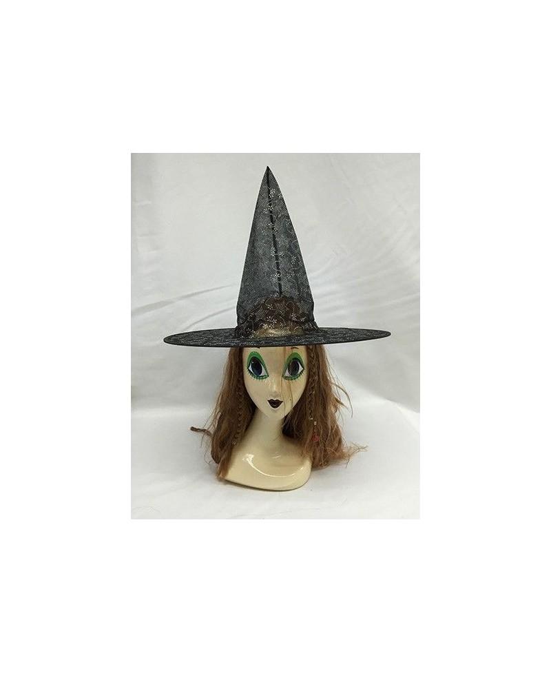 sombrero bruja transparente estrellas casa del disfraz174