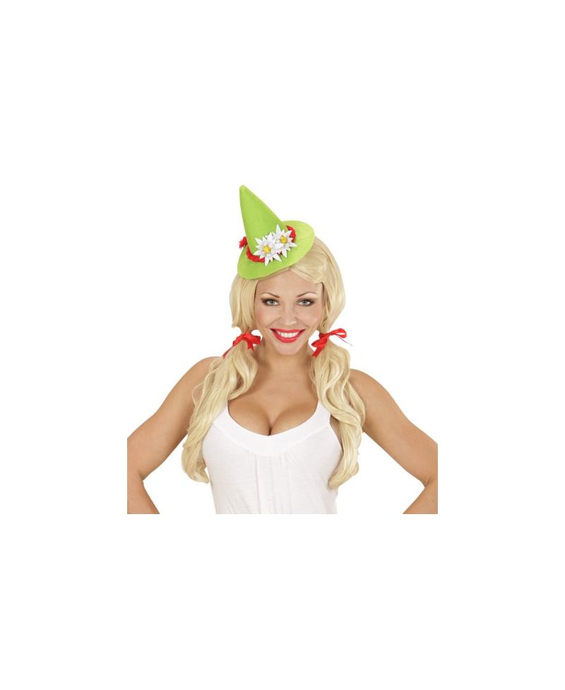 Mini Sombrero Bávaro Verde con Edelweiss