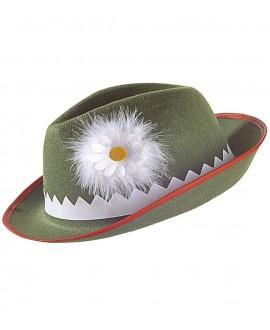Sombrero Tirolés con Margarita y Pluma
