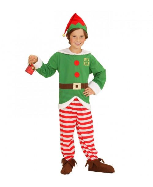 Disfraz de Elfo Ayudante Papa Noel Infantil
