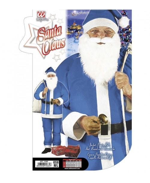 Disfraz de Papa Noel Azul