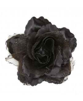 Rosa Color Negro con Purpurina