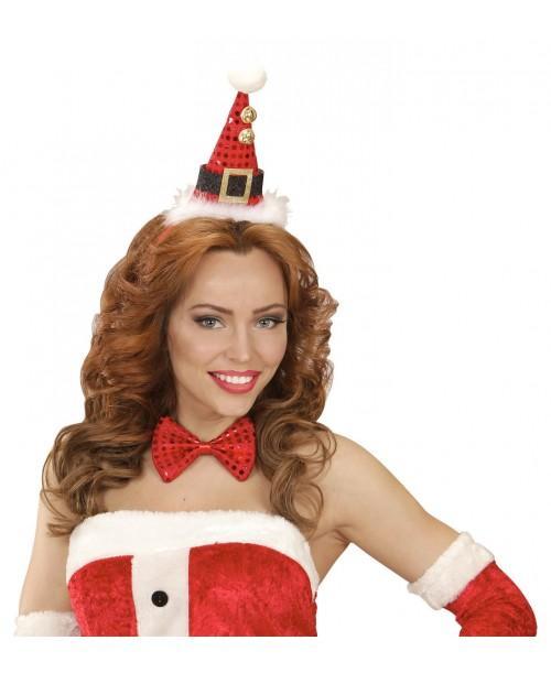 Mini Sombrero Papa Noel y Pajarita