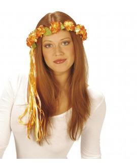 Diadema Flores Con Cintas Multicolor