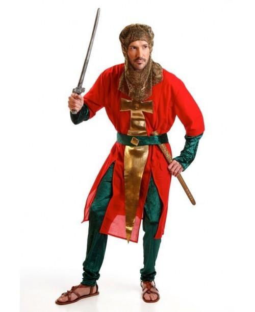 Disfraz de Soldado Medieval Rojo
