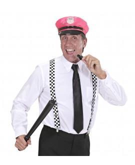 Sombrero Policía Rosa Neon