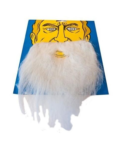 Bigote Espeso Blanco