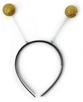 Diadema Antena Purpurina Oro