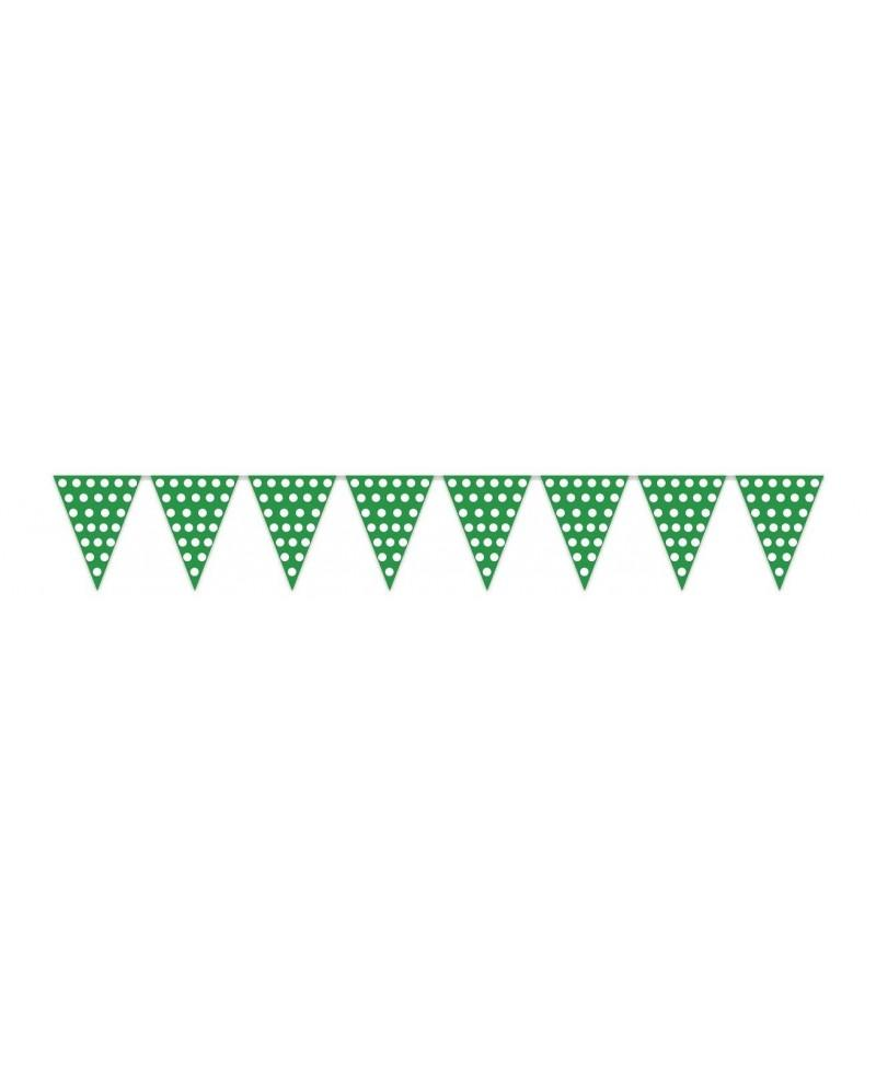 Banderas Verdes con Puntos Blancos