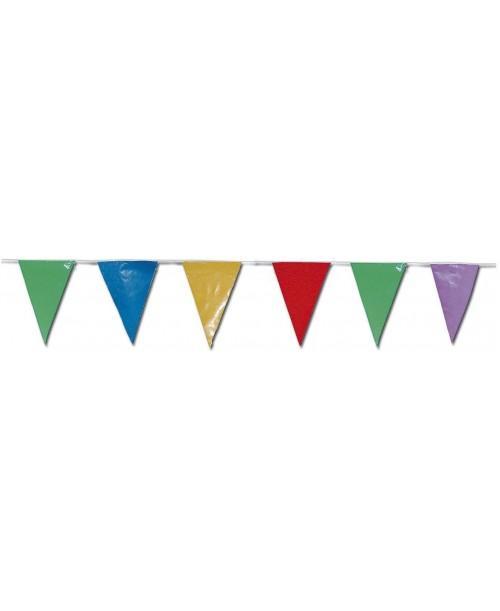 Bandera Multicolor Triangulo Plástico