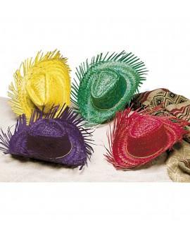 Sombrero de Paja Colores Surtidos